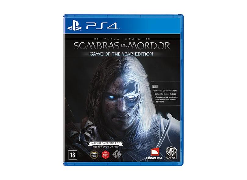 Jogo Terra Média Sombras de Mordor PS4 Warner Bros