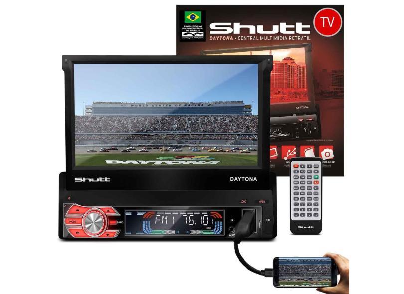 """Central Multimídia Automotiva Shutt 7 """" Daytona TV"""