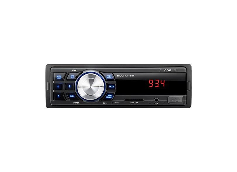 Som Automotivo MP3 Rádio Multilaser One P3213