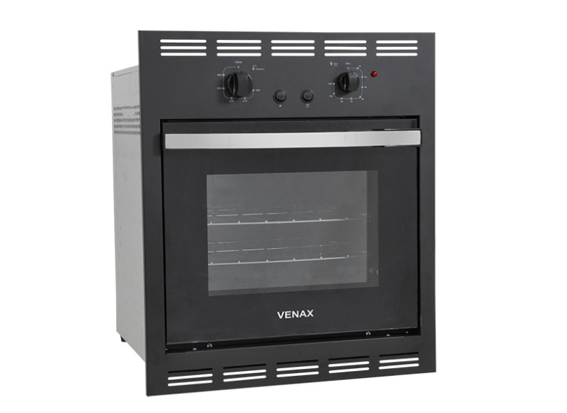 Forno de Embutir a Gás Venax 51.8 l Totale Nero