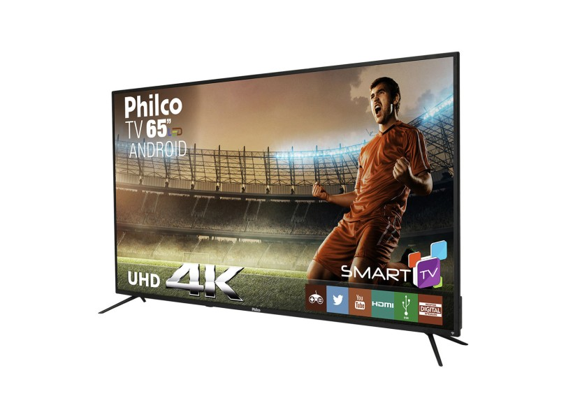 "Smart TV TV LED 65 "" Philco 4K PTV65A11DSGWA 3 HDMI"