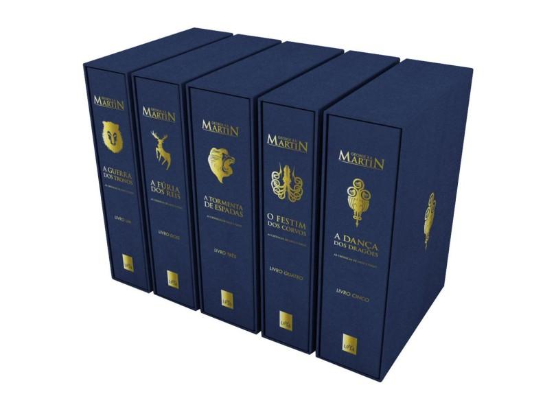 Box - Crônicas de Gelo e Fogo - Edição de Luxo - 5 Volumes - Martin, George R. R. - 9788544101261