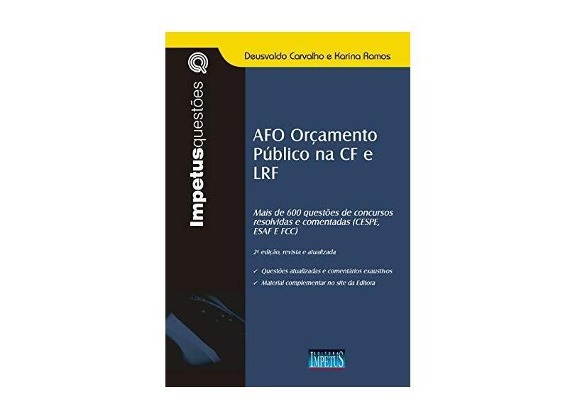 AFO e Orçamento Público na CF e LRF - Deusvaldo Carvalho - 9788576269144