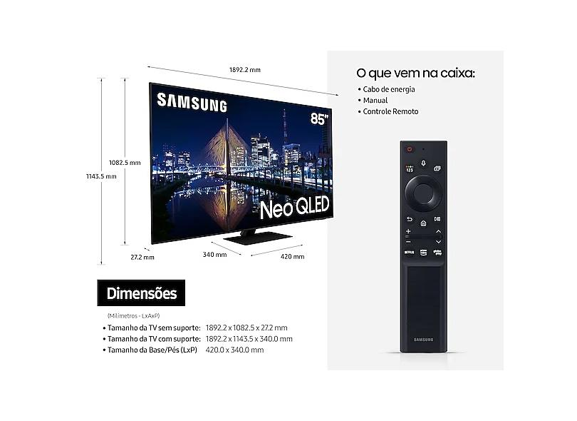 "Smart TV TV Neo QLED 85"" Samsung 4K HDR QN85QN85AAGXZD 4 HDMI"