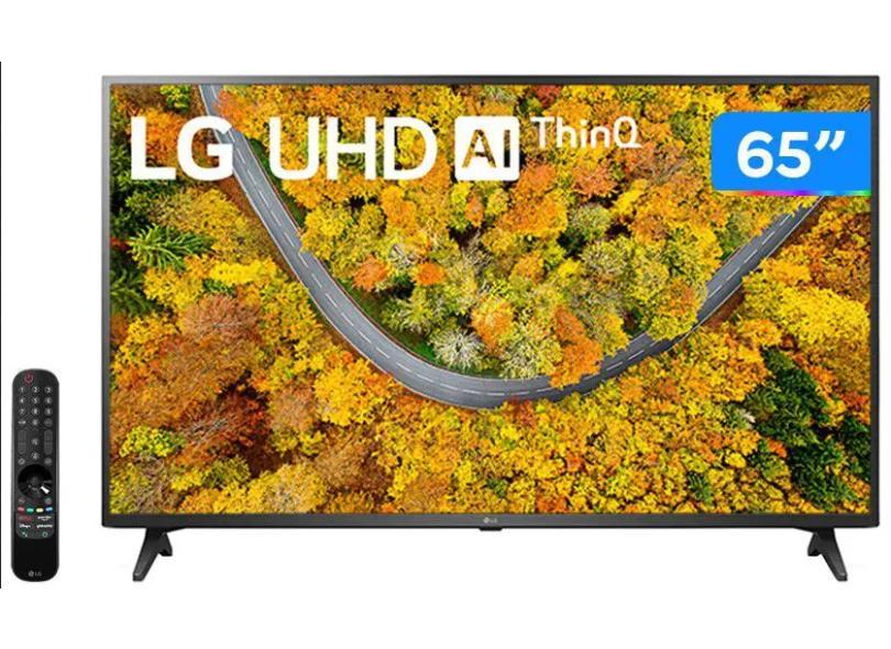 """Smart TV TV LED 65 """" LG ThinQ AI 4K 65UP7550PSF 2 HDMI"""
