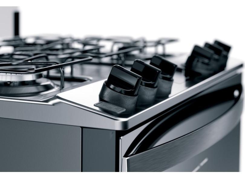 Fogão de Piso Brastemp 5 Bocas Acendimento Automático Acabamento Inox BFS5PCR
