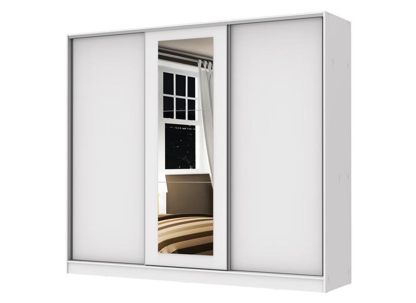 Guarda-Roupas Casal 3 Portas 4 Gavetas com Espelho Eros Madesa