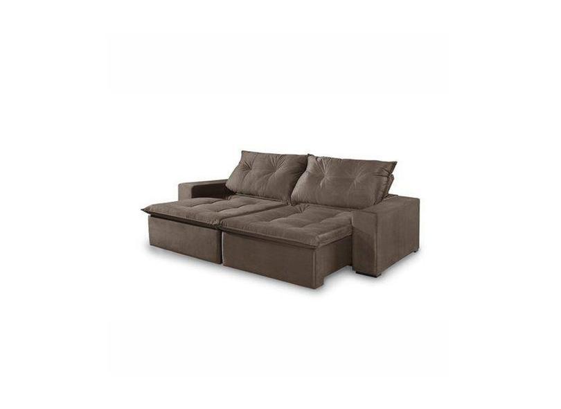 Sofá 5 lugares Retrátil Reclinável Suede Caprice 290 cm Premium Estofados