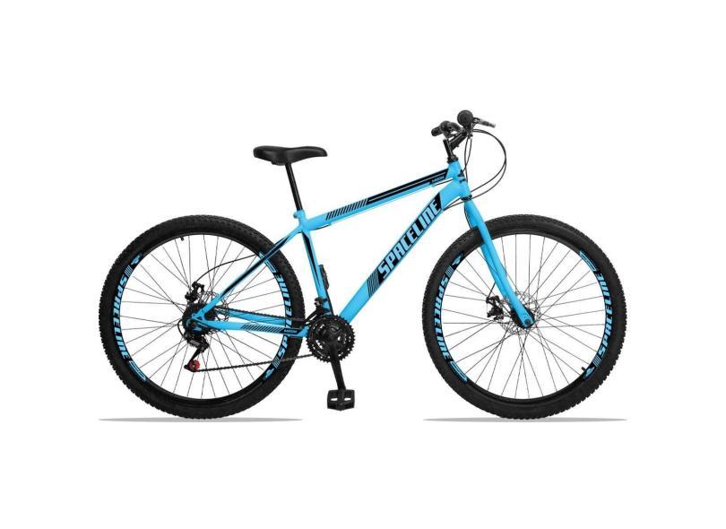 Bicicleta Mountain Bike Spaceline 21 Marchas Aro 29 Suspensão Dianteira a Disco Mecânico Moon