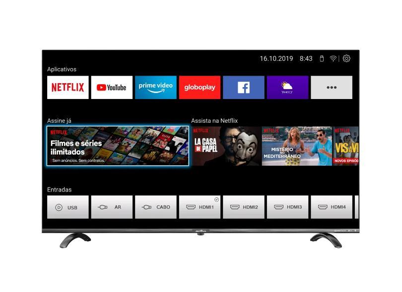 "Smart TV TV LED 55 "" Britânia BTV55Q20N5SBL 4 HDMI"