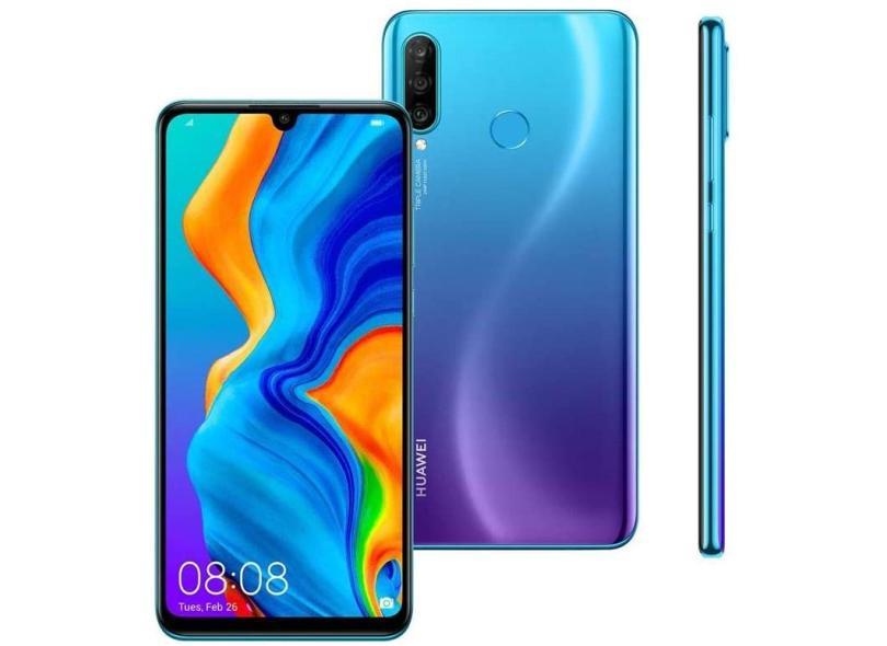 Smartphone Huawei P30 Lite 4 GB 128GB Câmera Tripla HiSilicon Kirin 710 2 Chips Android 9.0 (Pie)
