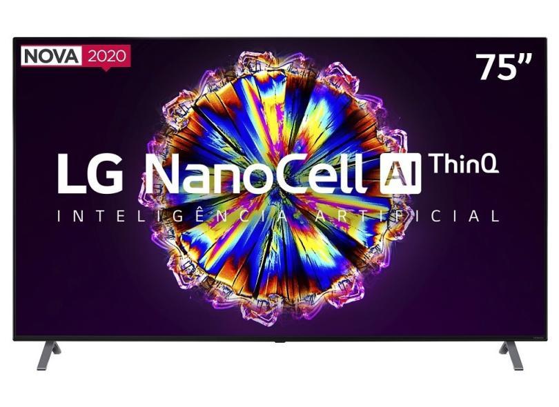 """Smart TV TV Nano Cristal 75 """" LG ThinQ AI 4K HDR 75NANO90SNA 4 HDMI"""