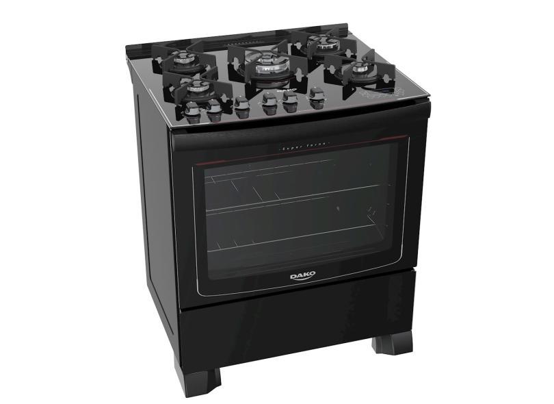 Fogão de Piso Dako 5 Bocas Acendimento Automático Turbo Glass DP5VT-PF0