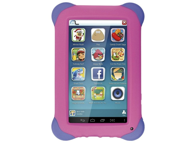 "Tablet Multilaser 3G 8.0 GB LCD 7 "" Android 4.4 (Kit Kat) Kid Pad NB194"