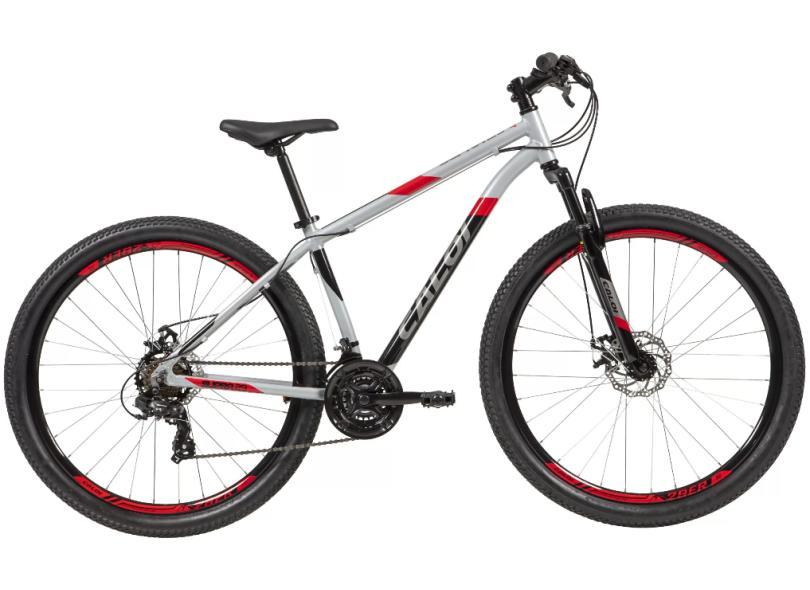 Bicicleta Mountain Bike Caloi 21 Marchas Aro 29 Suspensão Dianteira a Disco Mecânico Supra 2021