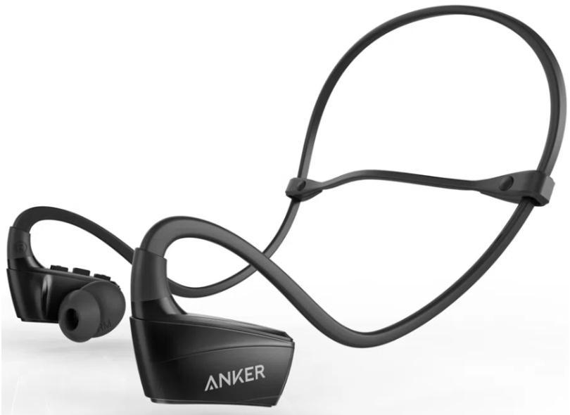 Fone de Ouvido Bluetooth com Microfone Academia Anker Sport NB10