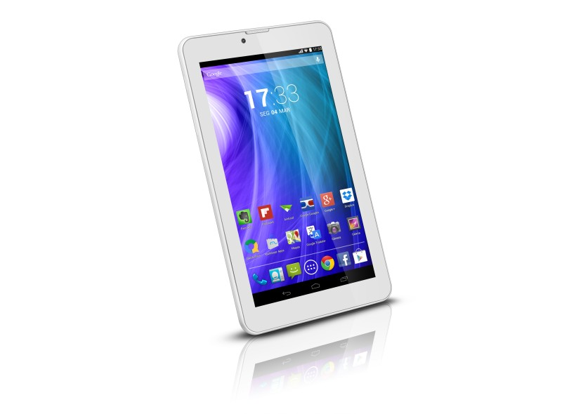 "Tablet Multilaser M7 3G 8GB LCD 7"" Android 4.4 (Kit Kat) 2 MP"