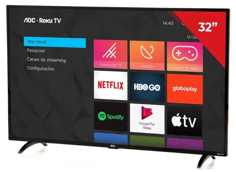 """Smart TV TV LED 32"""" AOC 32S5195 3 HDMI"""