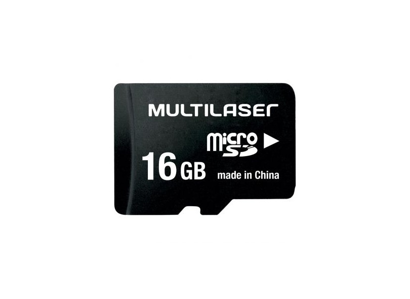 Cartão de Memória Micro SDHC com Adaptador Multilaser 16 GB MC005
