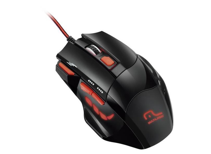Mouse Óptico Gamer USB Firemouse MO236 - Multilaser