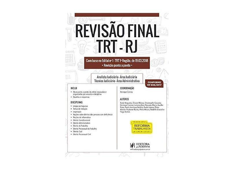 Revisão Final. Trj-Rj. 2018 - Henrique Correia - 9788544221914