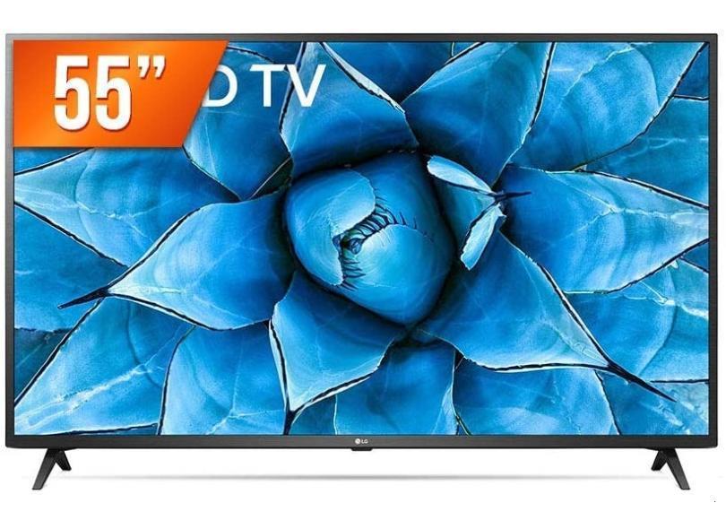"Smart TV TV LED 55 "" LG ThinQ AI 4K HDR 55UN731C 3 HDMI"