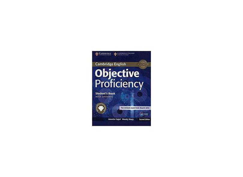 Objective Proficiency Student's Book W Answers 2Ed - Capa Comum - 9781107646377