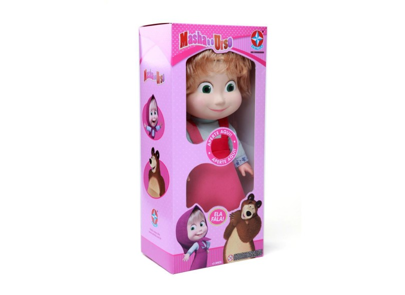 Boneca Masha e o Urso Com Som Estrela