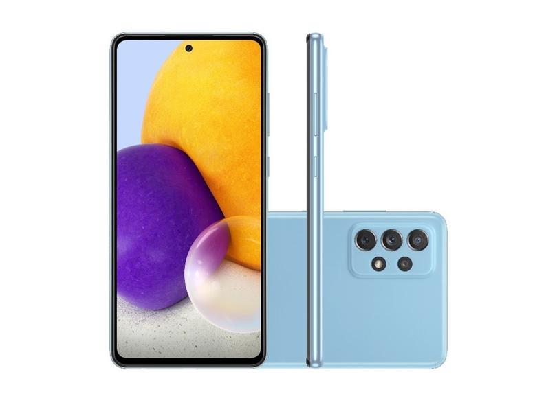 Smartphone Samsung Galaxy A72 SM-A725M 128GB Câmera Quádrupla 2 Chips Android 11