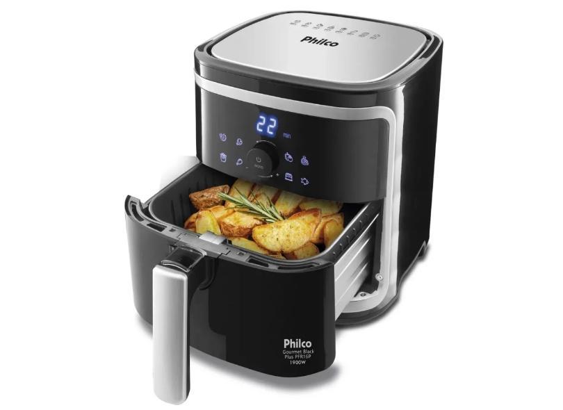 Fritadeira Elétrica Sem óleo Philco Gourmet Black Plus PFR16P 5 l