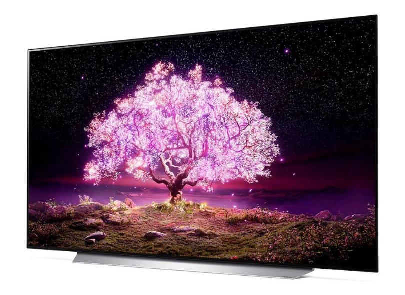 "Smart TV TV OLED 77 "" LG ThinQ AI 4K HDR OLED77C1PSA 4 HDMI"