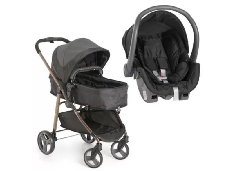 Carrinho de Bebê com Bebê Conforto Galzerano Olympus Black