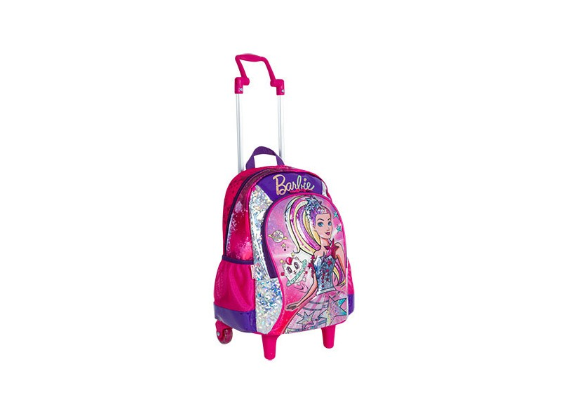 Mochila com Rodinhas Escolar Sestini Barbie Barbie Aventura nas Estrelas G 64736