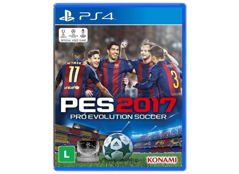 Jogo Pro Evolution Soccer 2017 PS4 Konami
