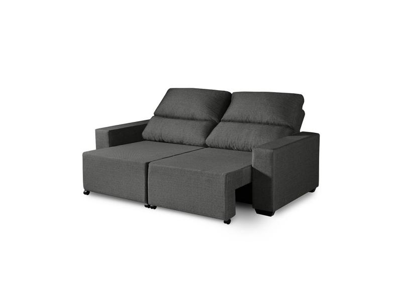 Sofá 3 lugares Retrátil Reclinável Suede Elegance 190 cm Premium Estofados