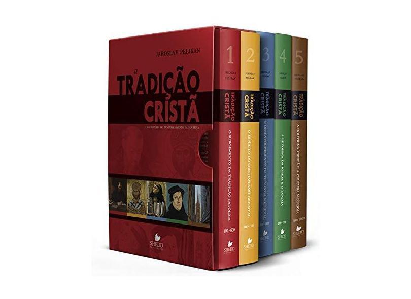 A Tradição Cristã - Caixa com Volumes de 1 à 5 - Jaroslav Pelikan - 9798580380575