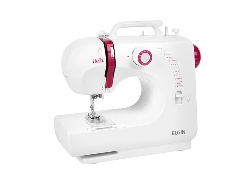 Máquina de Costura Doméstica Reta Ziguezague Bella BL 1200 - Elgin