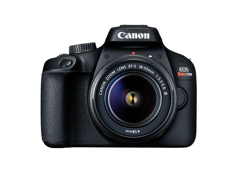 Câmera Digital DSLR(Profissional) Canon EOS 18 MP Full HD Rebel T100