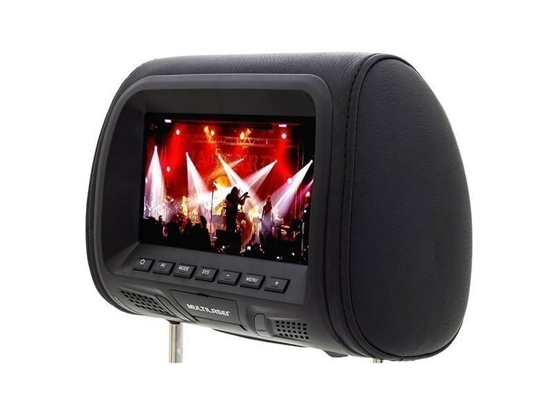 """Monitor de DVD Automotivo de Encosto de Cabeça 7"""" - Multilaser AU323"""