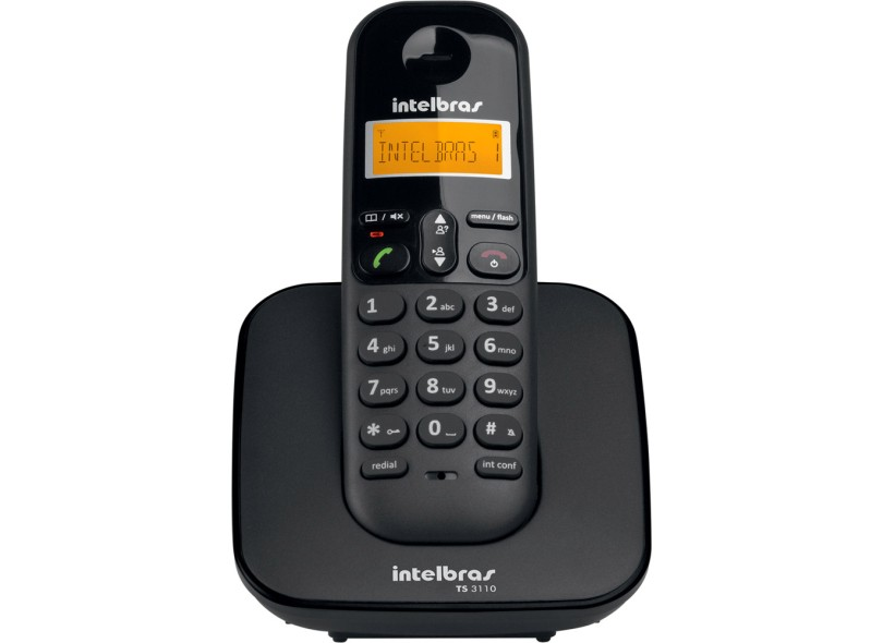 Telefone sem Fio Intelbras com 2 Ramais TS 3110
