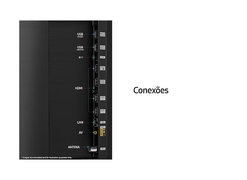 "Smart TV TV QLED 55 "" Samsung 4K HDR 55Q80A 4 HDMI"