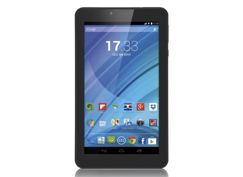 "Tablet Multilaser M7 3G 8.0 GB LCD 7 "" Android 4.4 (Kit Kat) NB223"