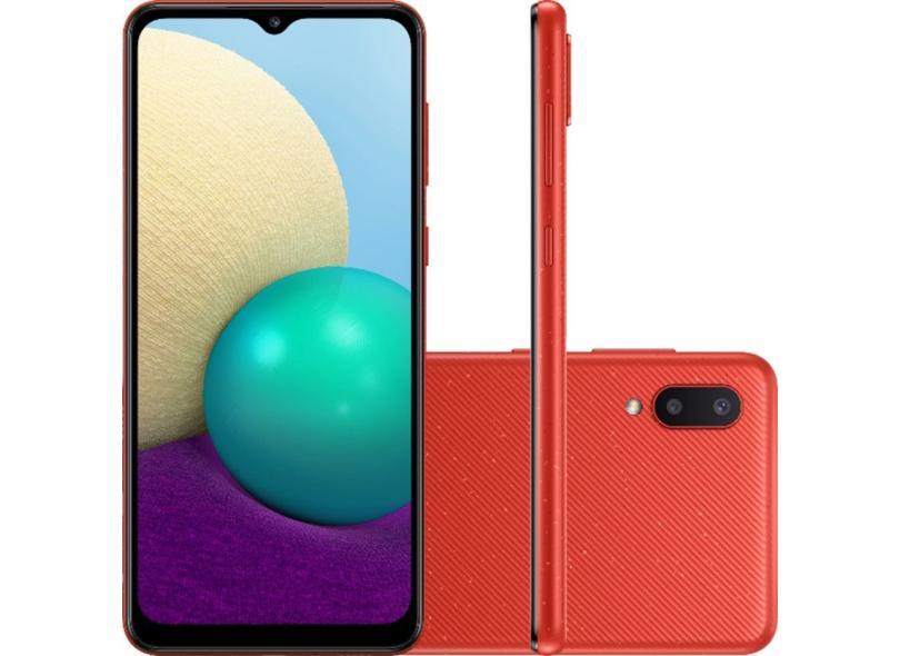 Smartphone Samsung Galaxy A02 32GB Câmera Dupla Android 10