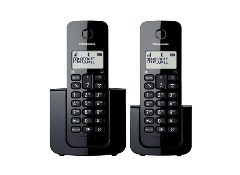 Telefone sem Fio Panasonic com 1 Ramal KXTGB112LBB