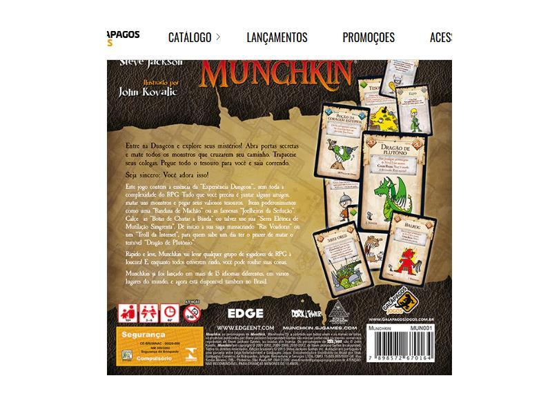 Jogo Munchkin Galápagos