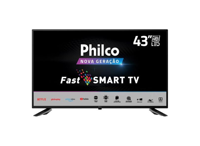 "Smart TV TV LED 43 "" Philco Full PTV43E10N5SF 2 HDMI"