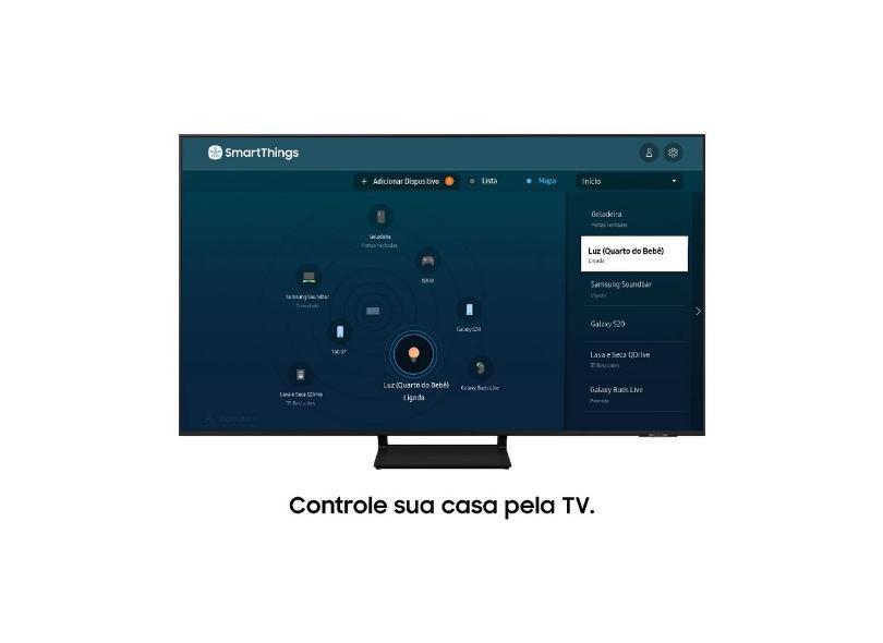 """Smart TV TV QLED 85"""" Samsung 4K HDR 85Q70A"""