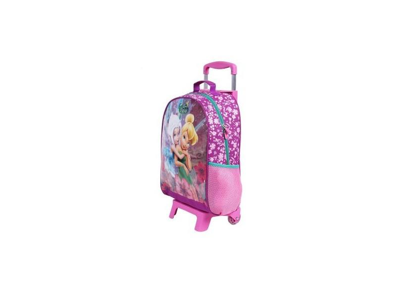 Mochila com Rodinhas Escolar Dermiwil Disney Fadas G 37071