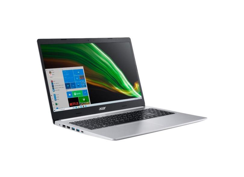 """Notebook Acer Aspire 5 Intel Core i5 1035G1 10ª Geração 8 GB de RAM 256.0 GB 15.6 """" Full GeForce MX350 Windows 10 A515-55G-588G"""