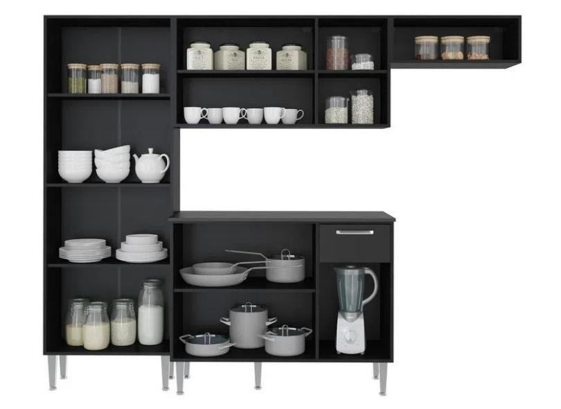 Cozinha Completa 1 Gaveta 9 Portas Xangai Plus Multimóveis
